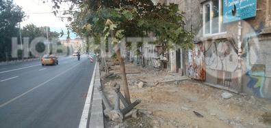 Разкопани тротоари