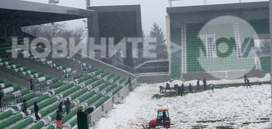"Подготовка на стадион ""Лудогорец Арена"" за мача на националите с Босна и Херцеговина"