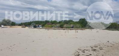 Бетонен строеж на плажа на Кранево