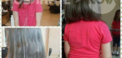 Дете дари косата си на онкоболни