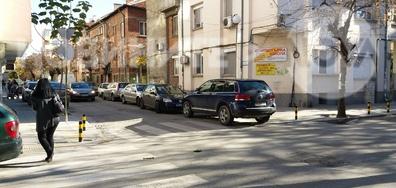 Неправилно паркиране в центъра на Пловдив