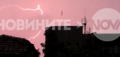 Дъжд и светкавици над Разград