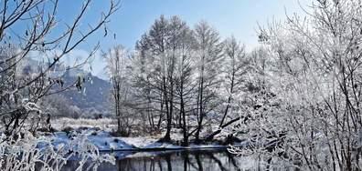 Зимна приказка край река Струма