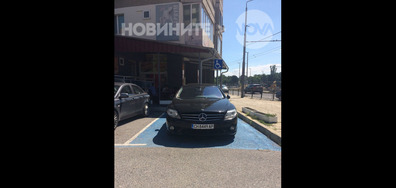 Неправилно паркиране в Сливен