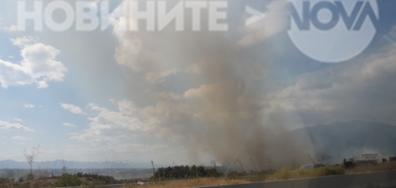 """Пожар преди """"Кулата"""" от гръцка страна"""
