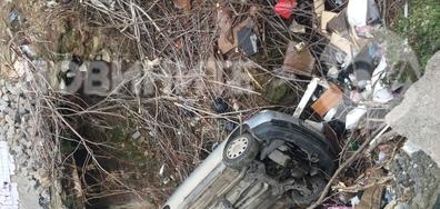 Паднала кола в центъра на София
