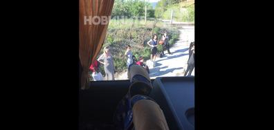 Авария на автобус