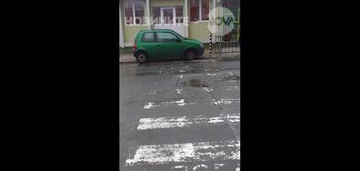 Кола на пешеходна пътека