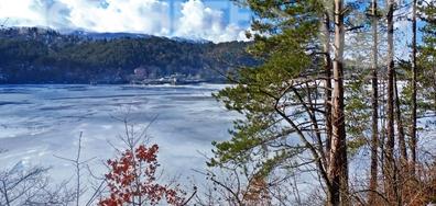 Панчаревско езеро през зимата