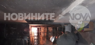 Пожар в блока в Димитровград