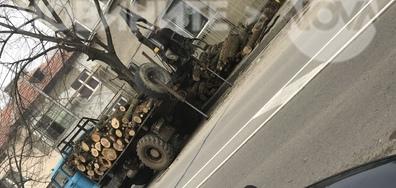 Задръстен тротоар в Град Шумен