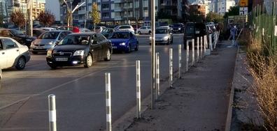 Паркиране на тротоара
