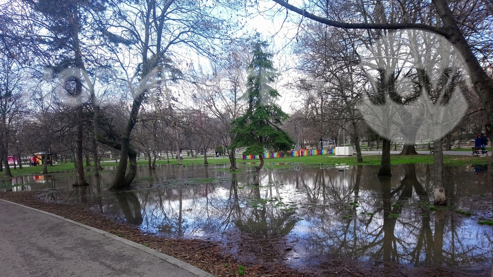 Наводнения парк в гр.София
