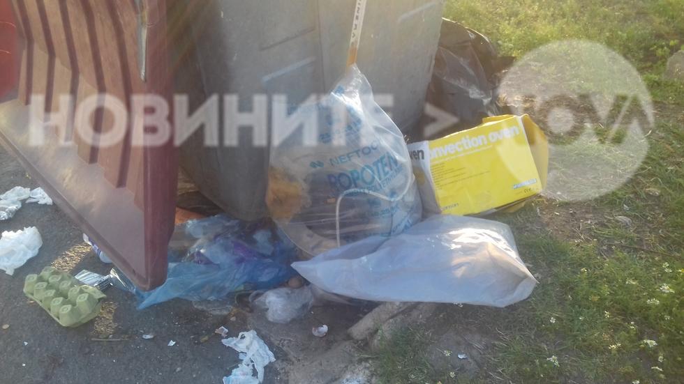Непочистен от 3 дни контейнер в Бургас