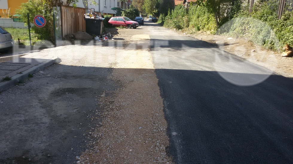 Нова мода при асфалтирането на улиците в София