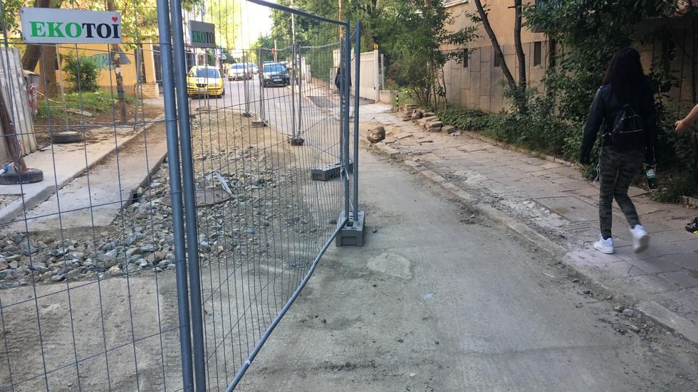 Разкопана и неремонтирана улица