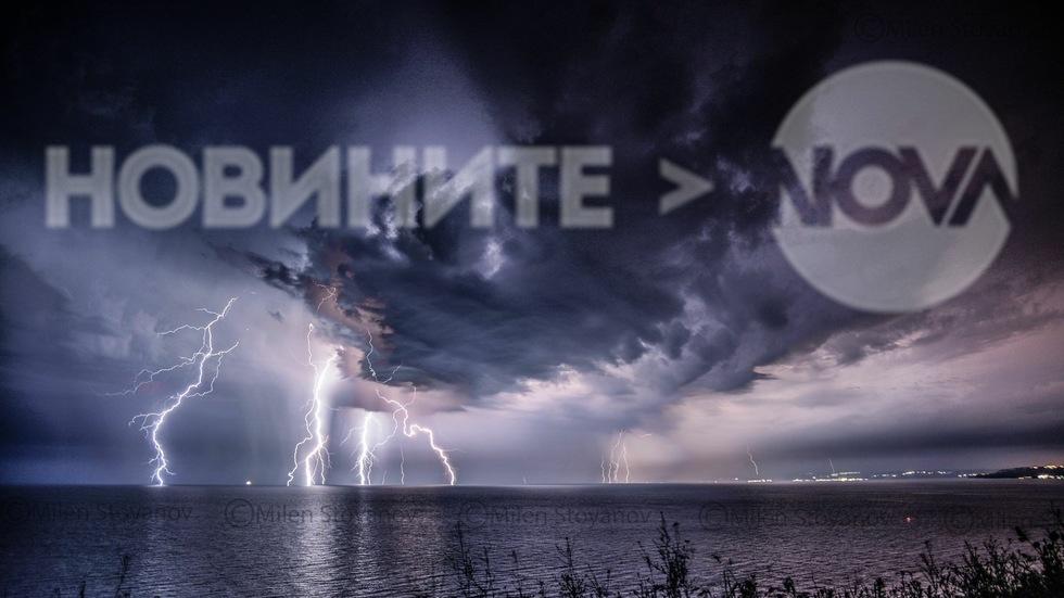 Гръмотевична буря над с.Българево