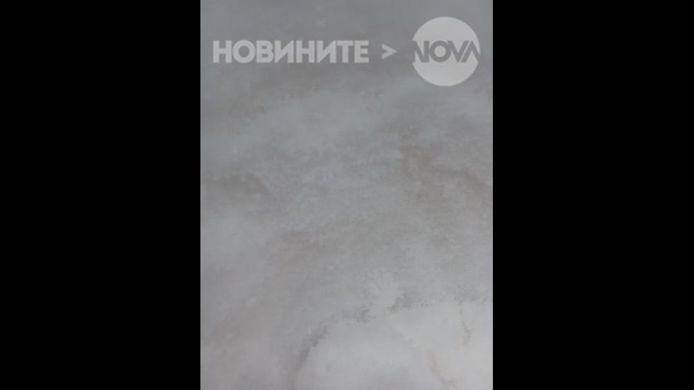 Жълто-кафеникав сняг в Монтанско