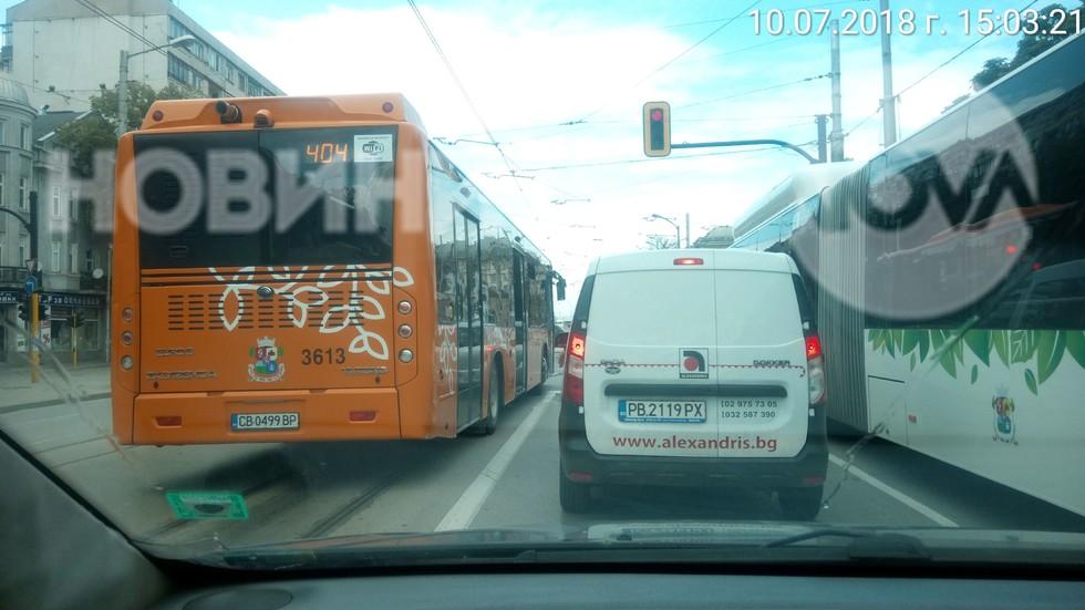 Водач на автобус в нарушение