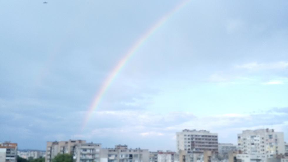 Дъга над Стара Загора