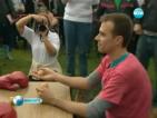 Световно първенство по спортове с яйца развесели британско градче