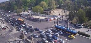 Затруднено движение в центъра на София заради вечното дерби (ВИДЕО)