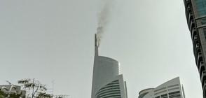 Пожар избухна в небостъргач в Дубай (ВИДЕО)