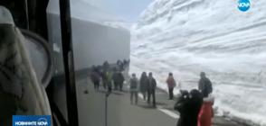 Път с гигантски снежни тунели в Япония – отворен за посещения до края на юни (ВИДЕО)