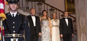Тръмп и съпругата му посрещнаха френската президентска двойка (ВИДЕО+СНИМКИ)