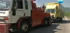 Сблъсък на два тира и товарен бус затвори пътя София – Варна (ВИДЕО)
