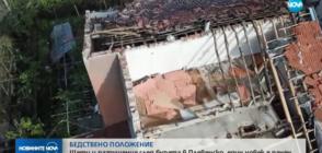 Щети и разрушения след бурята в Плевенско, един човек е ранен (КАДРИ ОТ ДРОН+СНИМКИ)