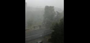 Силна буря с градушка в Бургас (ВИДЕО)
