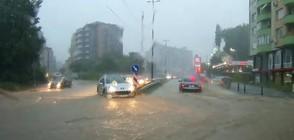 Бурята в София отнесе регистрационните табели на десетки коли