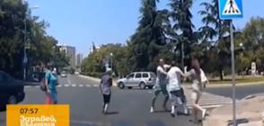 Шофьор и пешеходец се сбиха на кръстовище в Бургас (ВИДЕО)