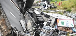 """""""GenovaToday"""": Български шофьор на тир е паднал с камиона си от моста в Генуа"""