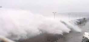 Две деца изчезнаха в морето във Варна, бутнати от силна вълна (ВИДЕО)