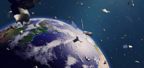 Британски спътник улови с мрежа космически боклук
