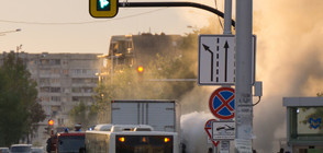 Автобус на градския транспорт се запали в София (СНИМКИ)