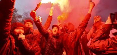 """Сблъсъци между фенове на """"Рома"""" и """"Ливърпул"""""""