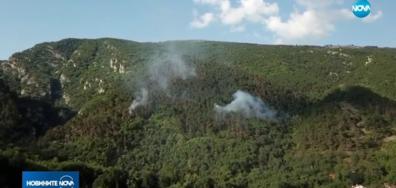 Пожарът над Карлово отново се разгоря (ВИДЕО)
