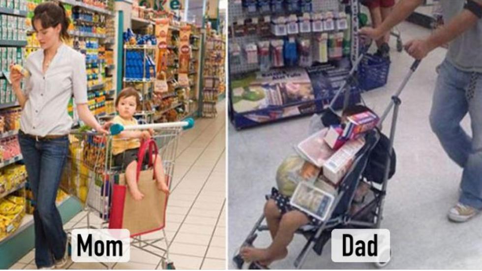 Разликите между майките и бащите, които ще ви разсмеят (ГАЛЕРИЯ)