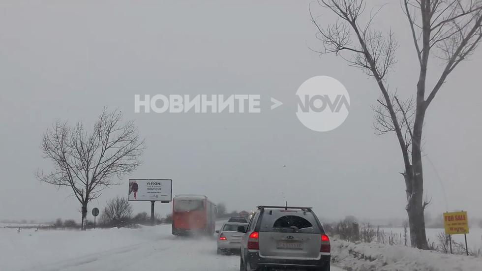 Изпреварване в насрещното при зимни условия (ВИДЕО)