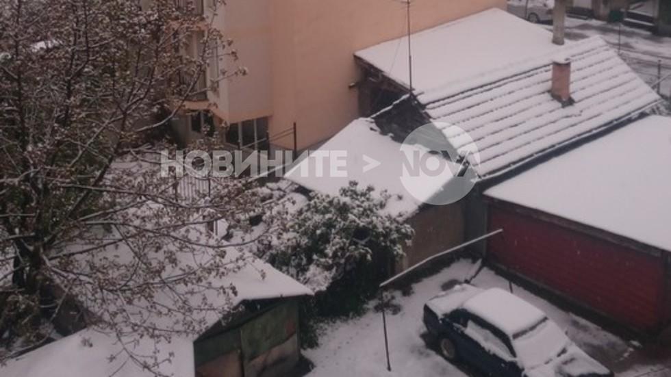 Снежна покривка в Габрово