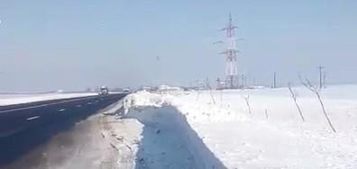 Как се чистят пътищата в Румъния (ВИДЕО)