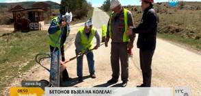 """""""Пълен абсурд"""": Кмет пълни дупки в движение с пътуващ бетоновъзел (ВИДЕО)"""