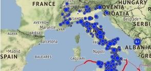 Над 4 хиляди земетресения за месец в Италия