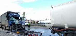 Цистерна и тир се удариха на Околовръстното шосе на София (ВИДЕО+СНИМКИ)