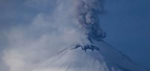 Вулкан изхвърли пепел на височина 7 км на Камчатка