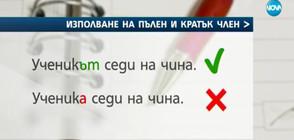 Започва ревизия на граматичните норми в българския език