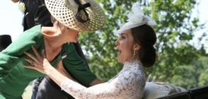 Кейт Мидълтън задържа графинята на Уесекс да не падне (СНИМКИ)